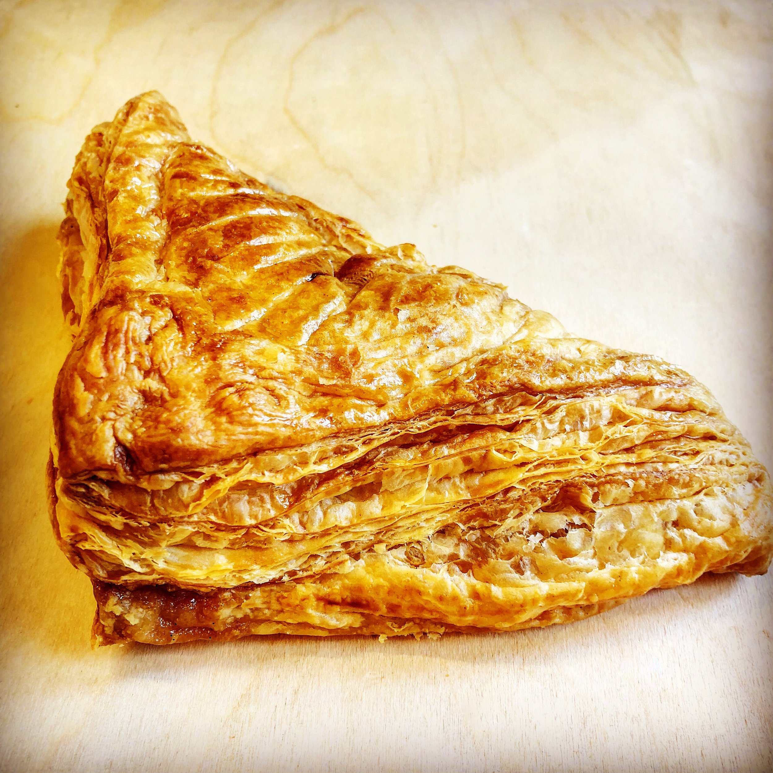 Apple & rhubarb turnover