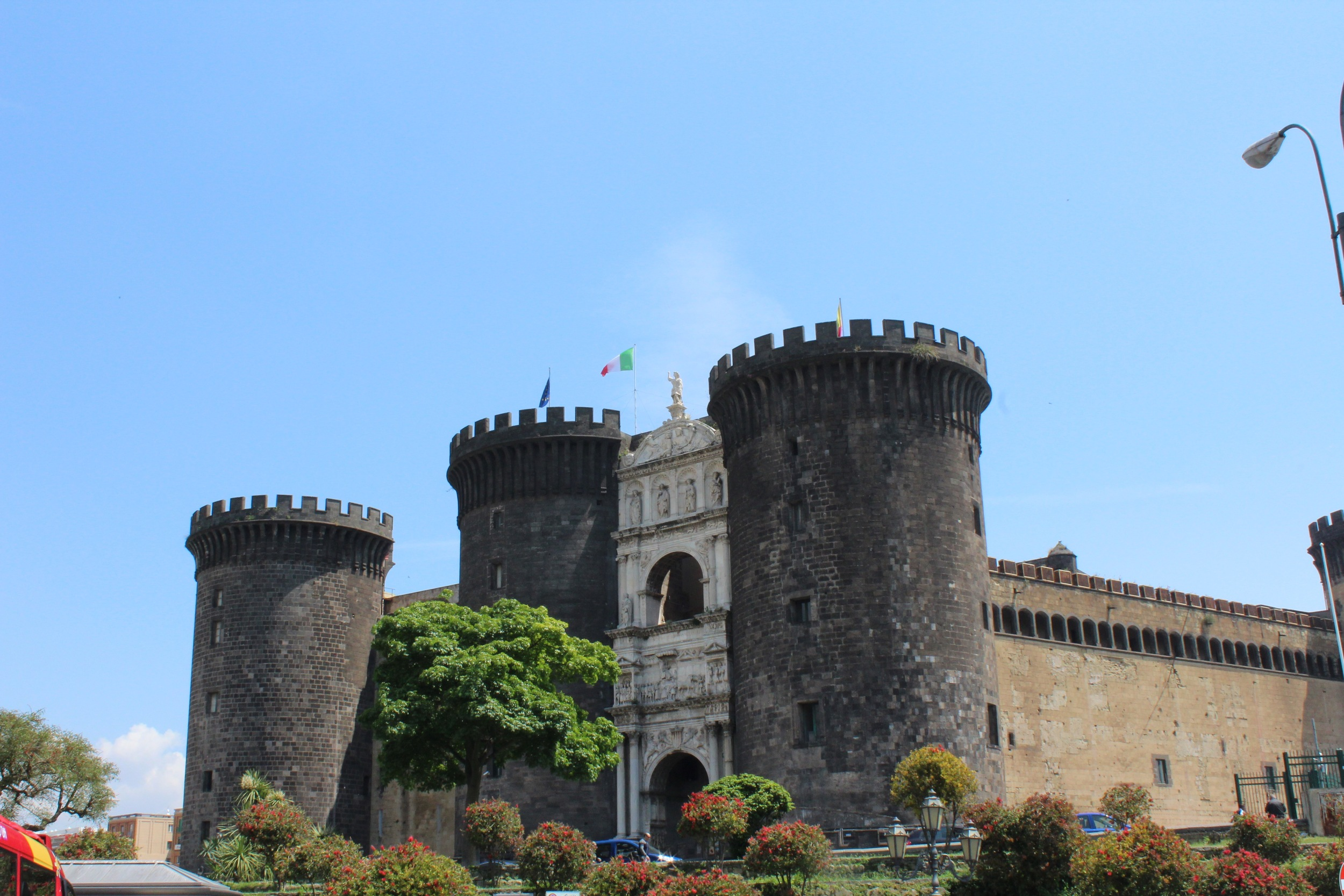 View of the Castel Nuovo or Maschio Angoino as the locals call it.