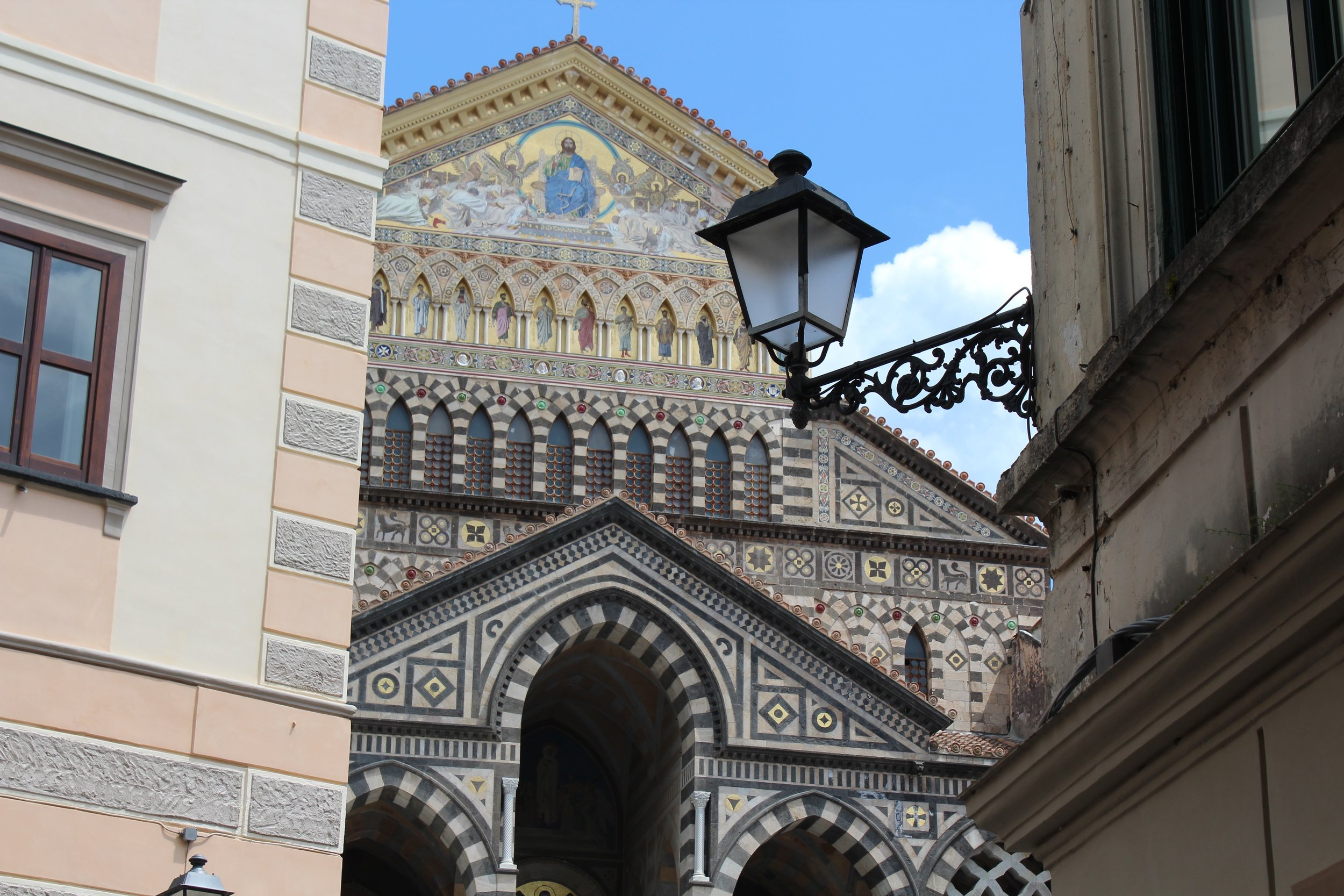 Andrea Pansa Pasticceria is next door to San Andrea, the Norman-Arab Cathedral of Amalfi.