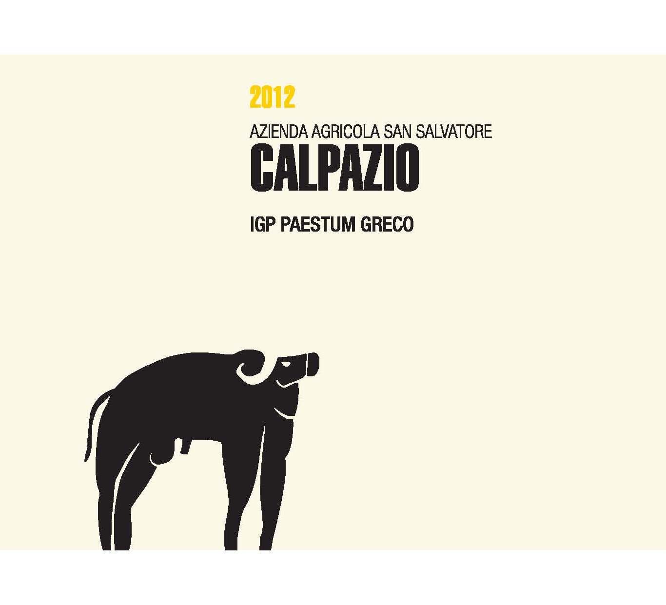Calpazio Paestum Greco wine label