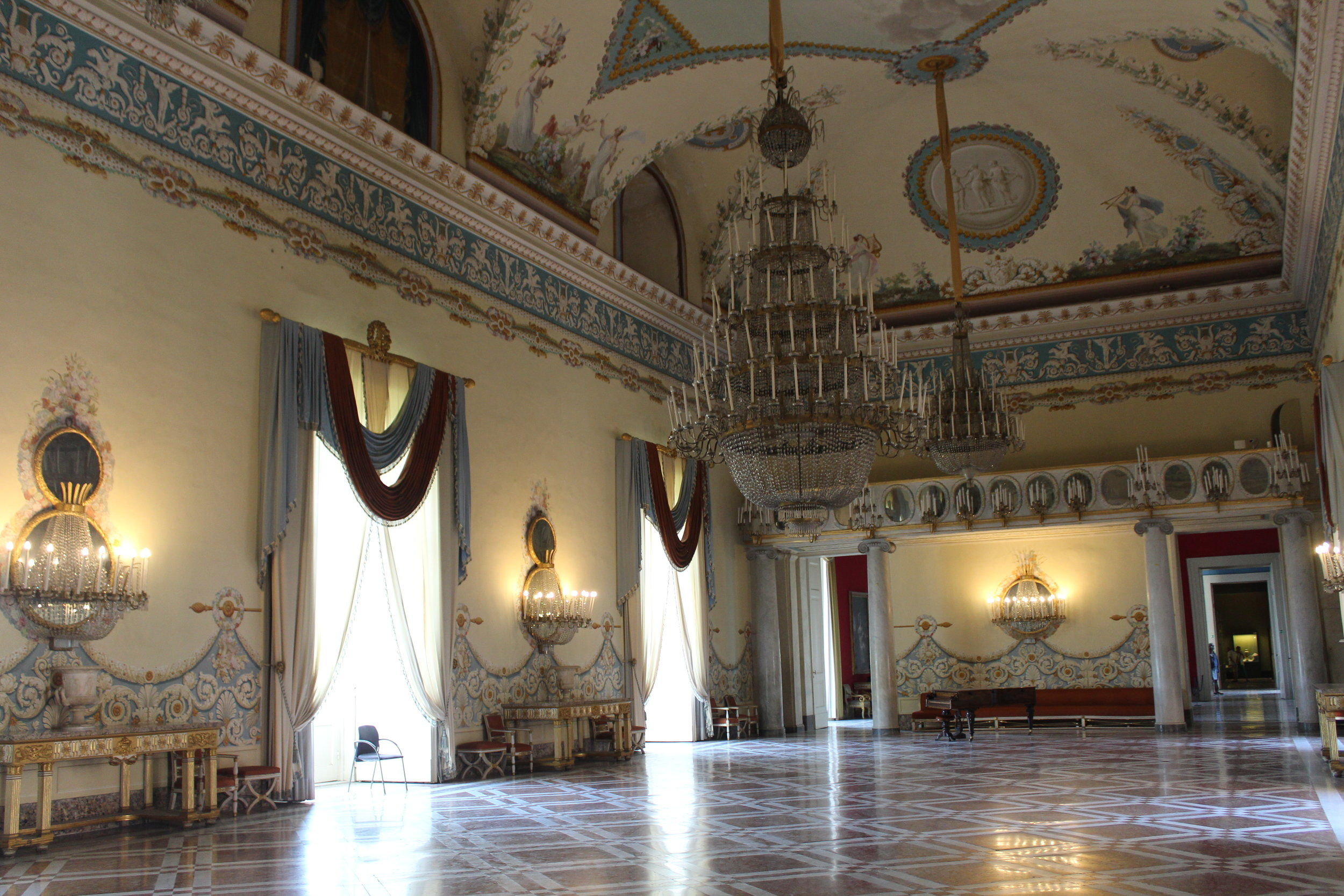 Bourbon salon rooms inside Museo di Capodimonte feel like a trip to Versailles