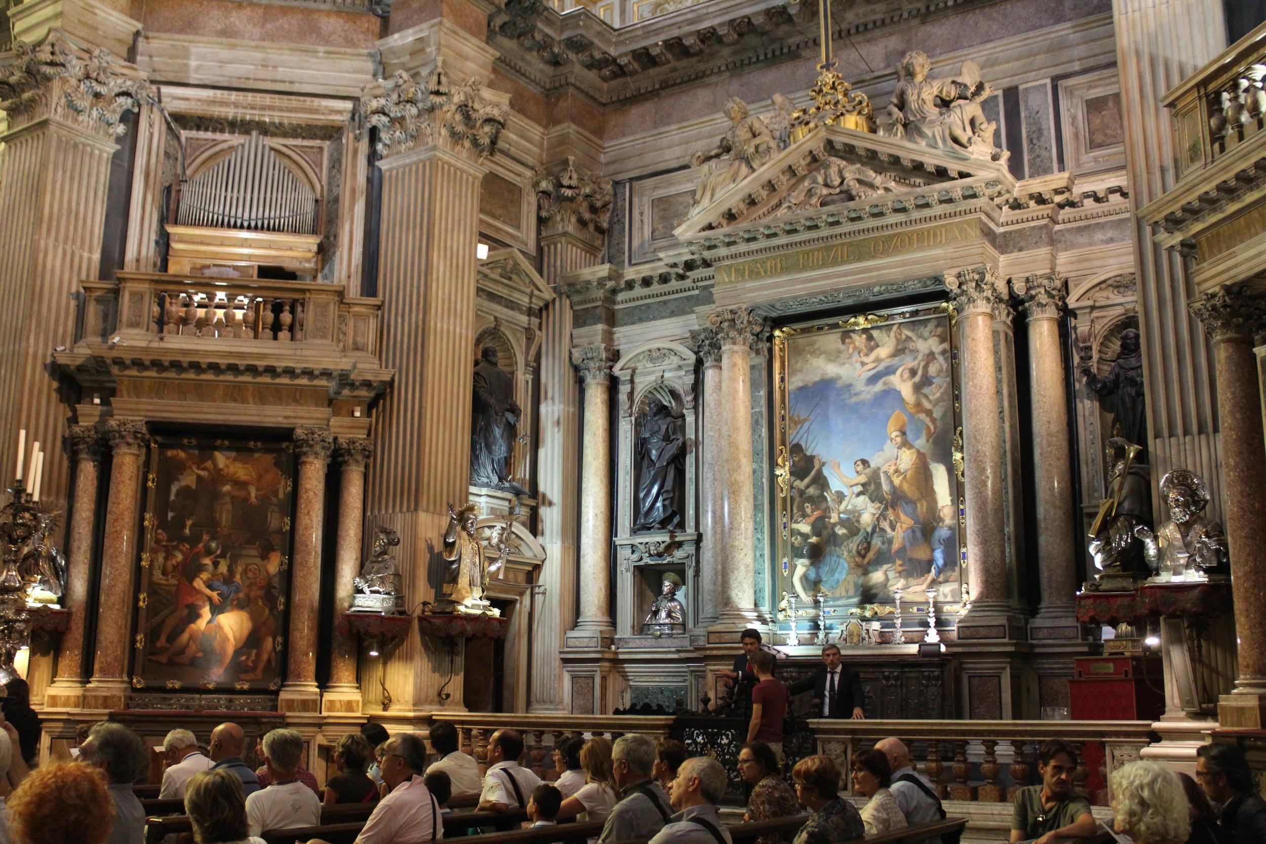 Inside San Gennaro's chapel
