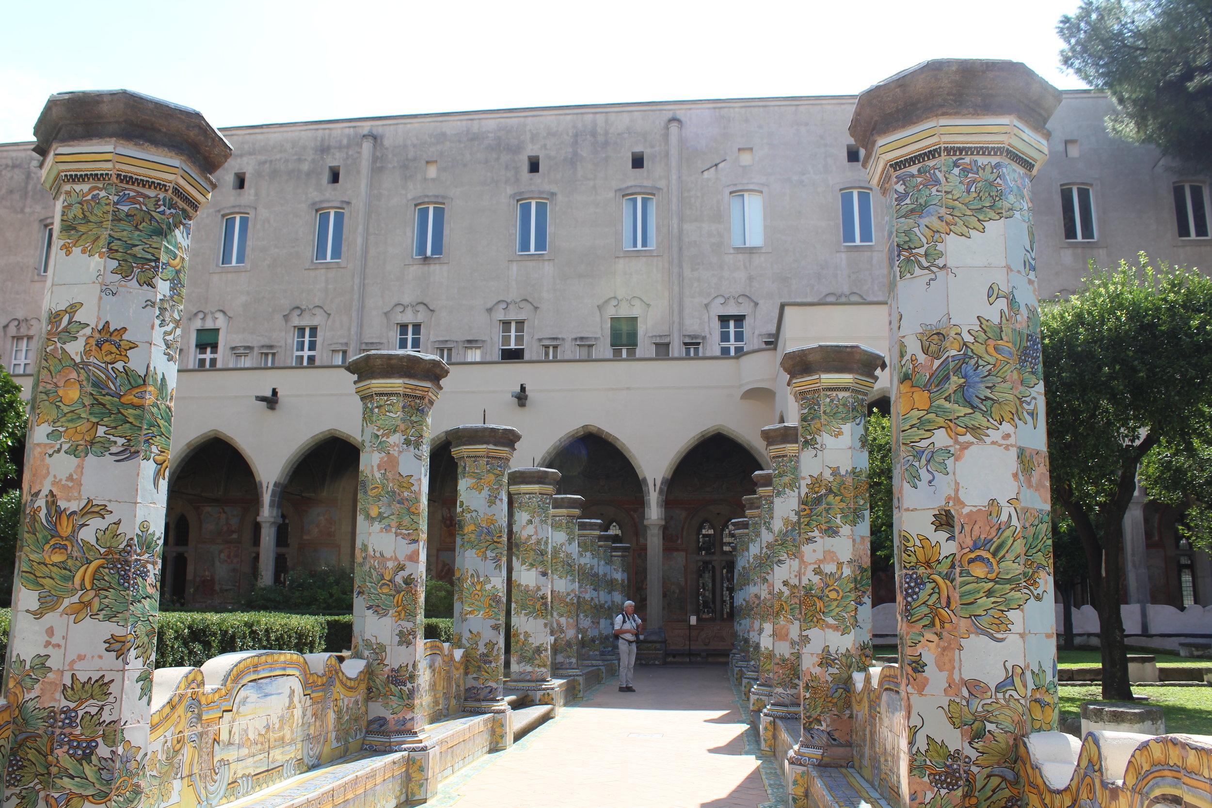 Majolica cloister of Santa Chiara