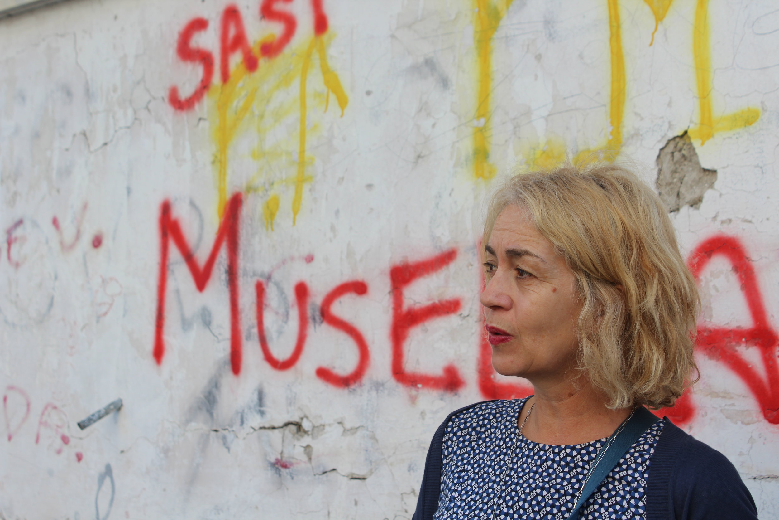Guide Francesca Sinaschalchi discusses contemporary life in Naples's Rione Luzzatti