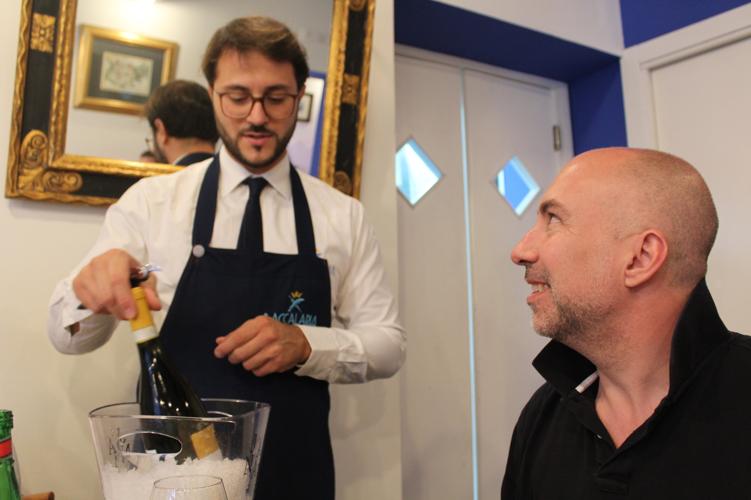 The last meal of 2016's  Ferrante Fever tour  of Naples was celebrated at La Baccalaria