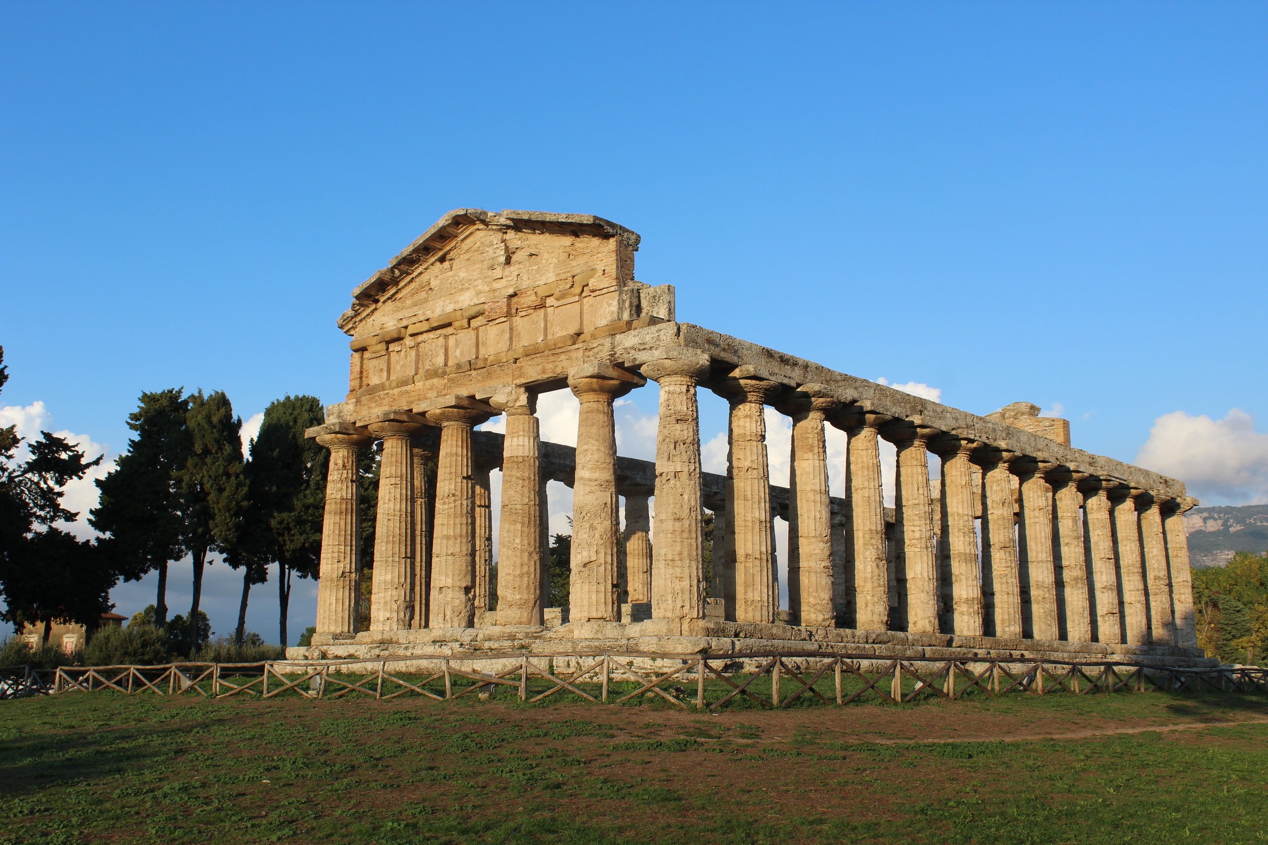 Greek temple built in the 6th century B.C.E. at Paestum