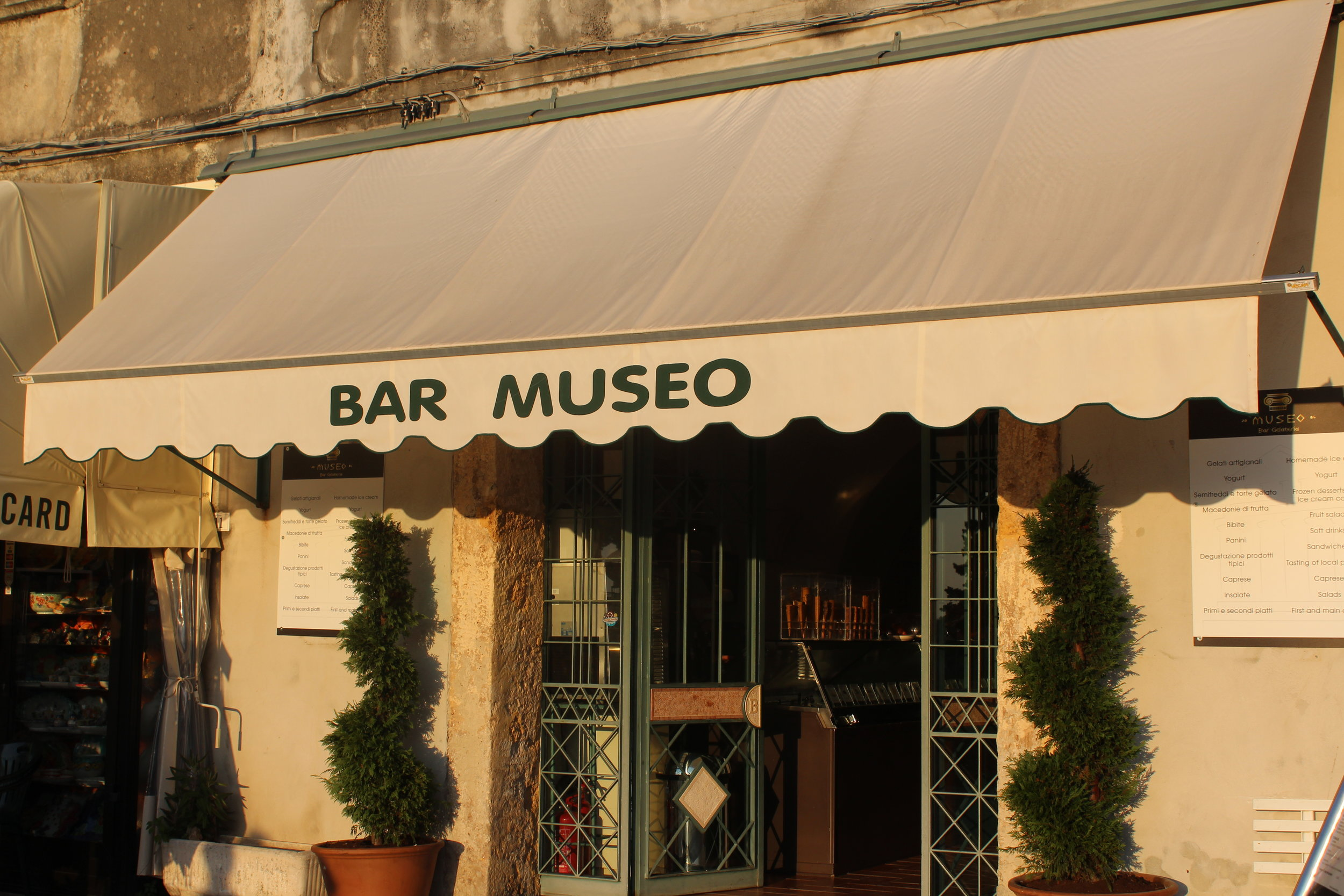 Order an affogato at Bar Museo, a scoop of gelato with a shot of espresso poured over the top.