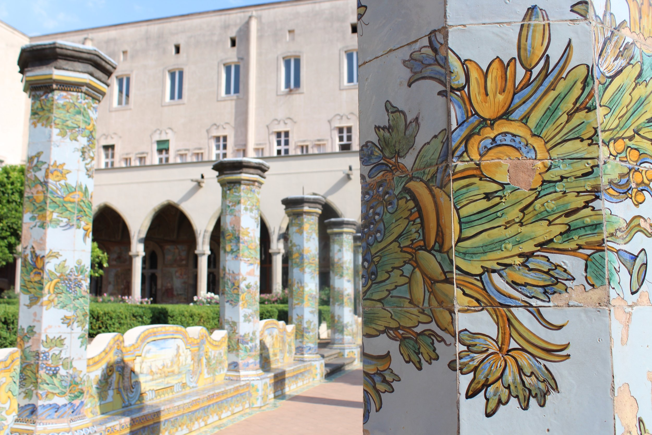 The majolica cloister of Santa Chiara