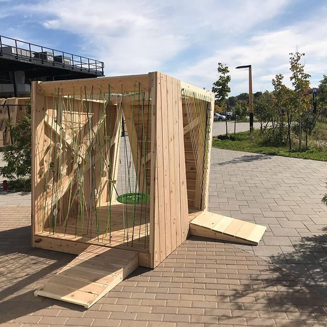 Design-build playhouses by the 3rd year architecture students