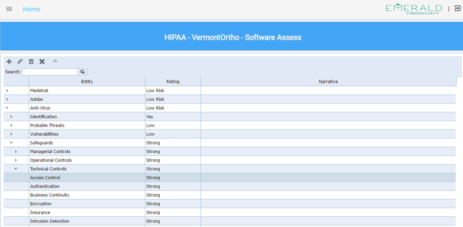 IT ASSET RISK ASSESSMENT - SOFTWARE EXAMPLE