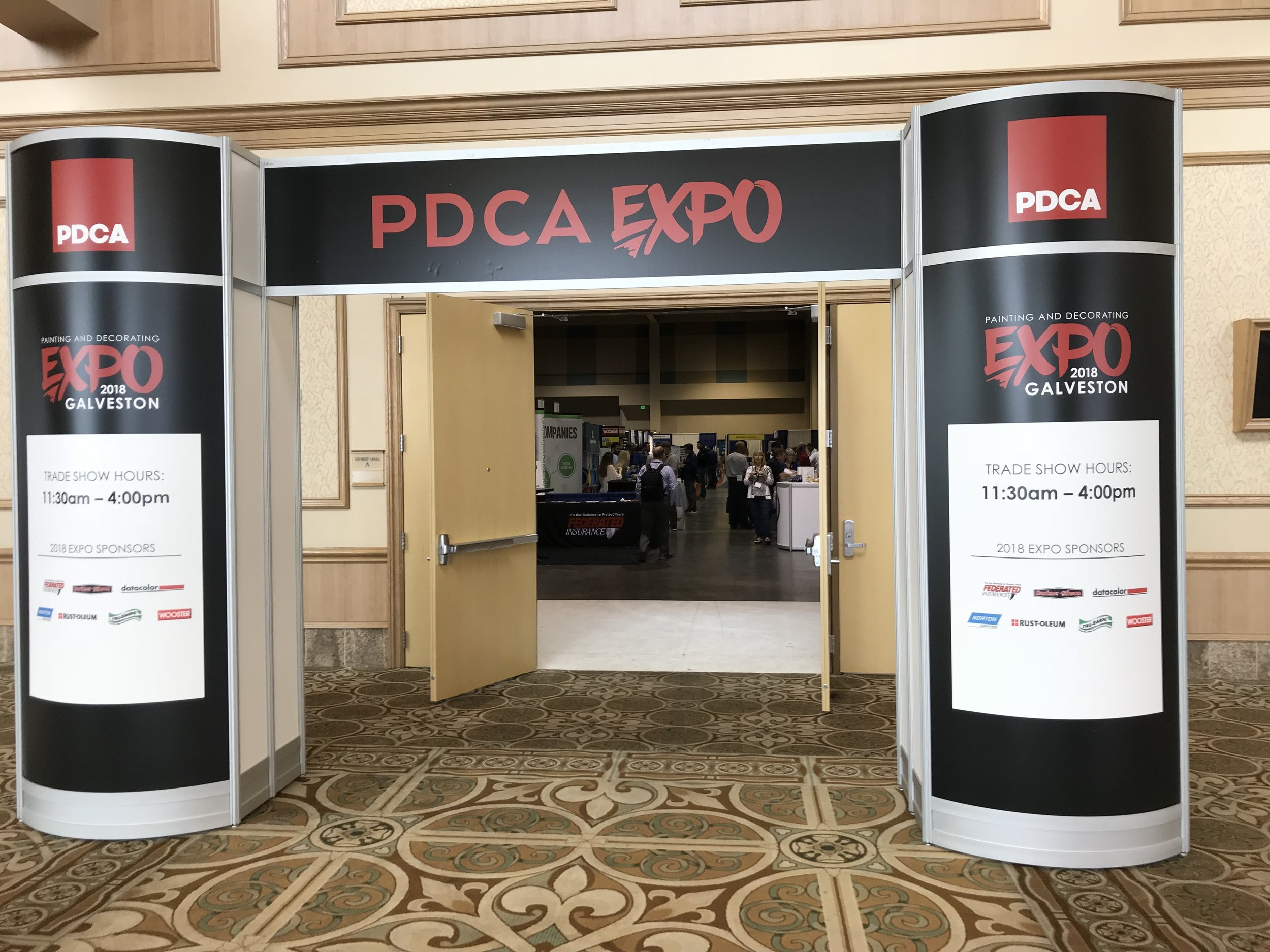 2018 PDCA Paint Expo product giveaway sponsor in Texas! Had a great time and learned a lot