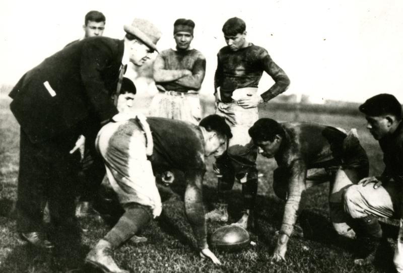 Pop Warner coaching at Carlisle Indian School, circa 1899-1903 (    U.S. Army Heritage and Education Center    )