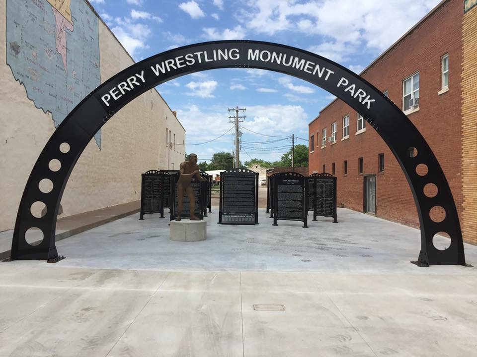 Perry Wrestling Monument Park!  Phase 1 complete!