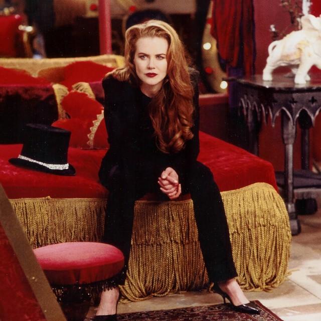 Actress  Nicole Kidman  on set with Elvis.