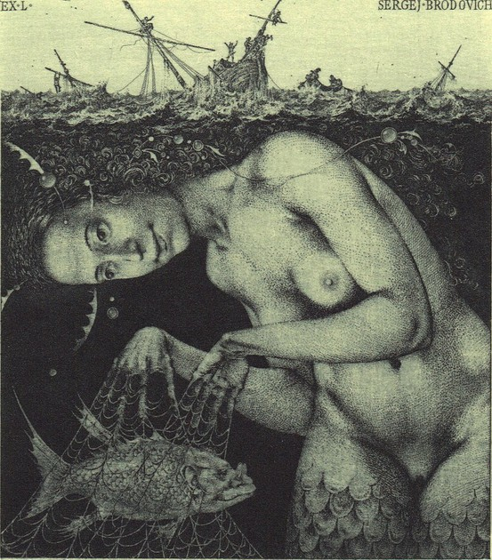 Mermaid Lithograph  from  Life  Magazine