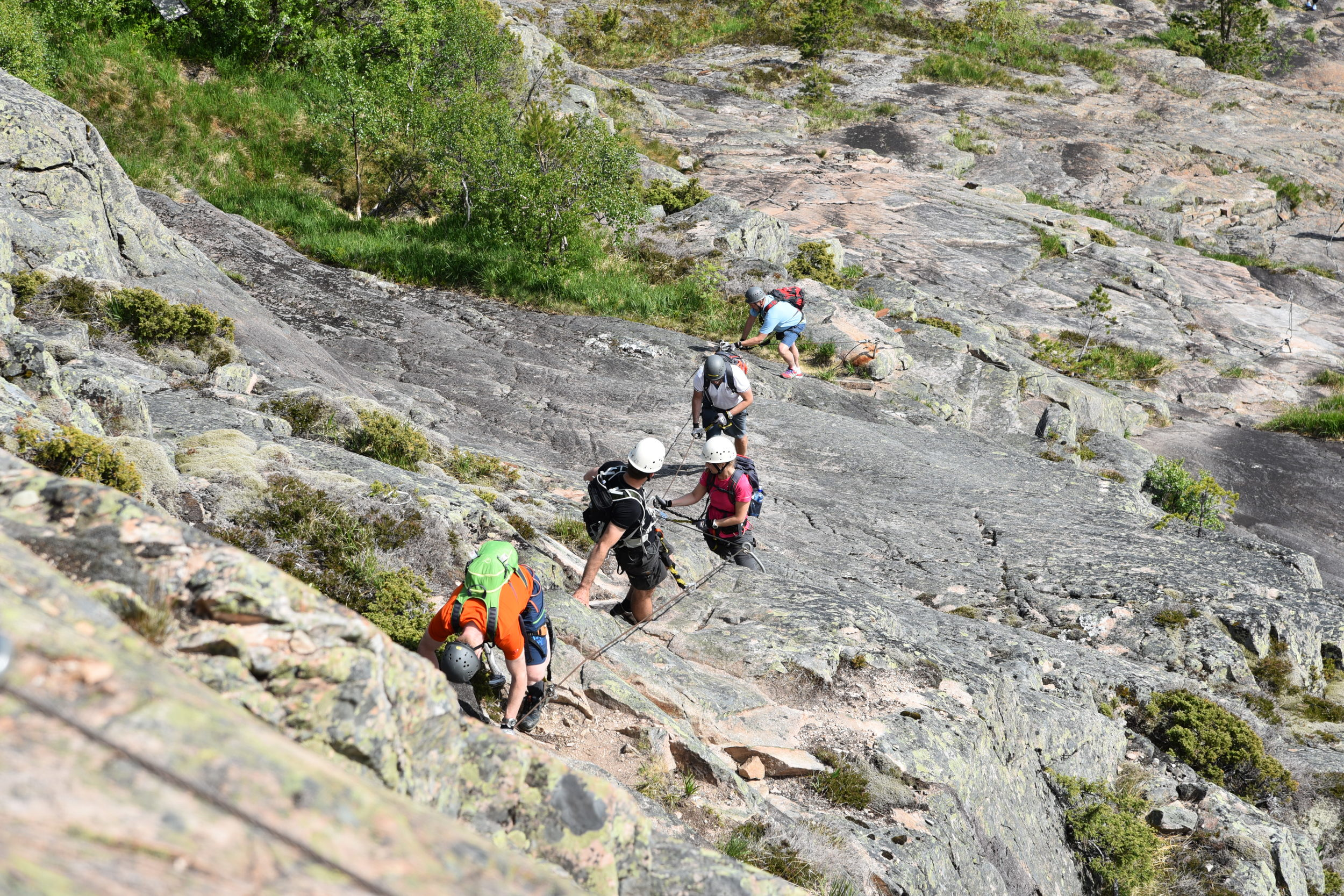 Via Ferrata is Italian and means iron path.