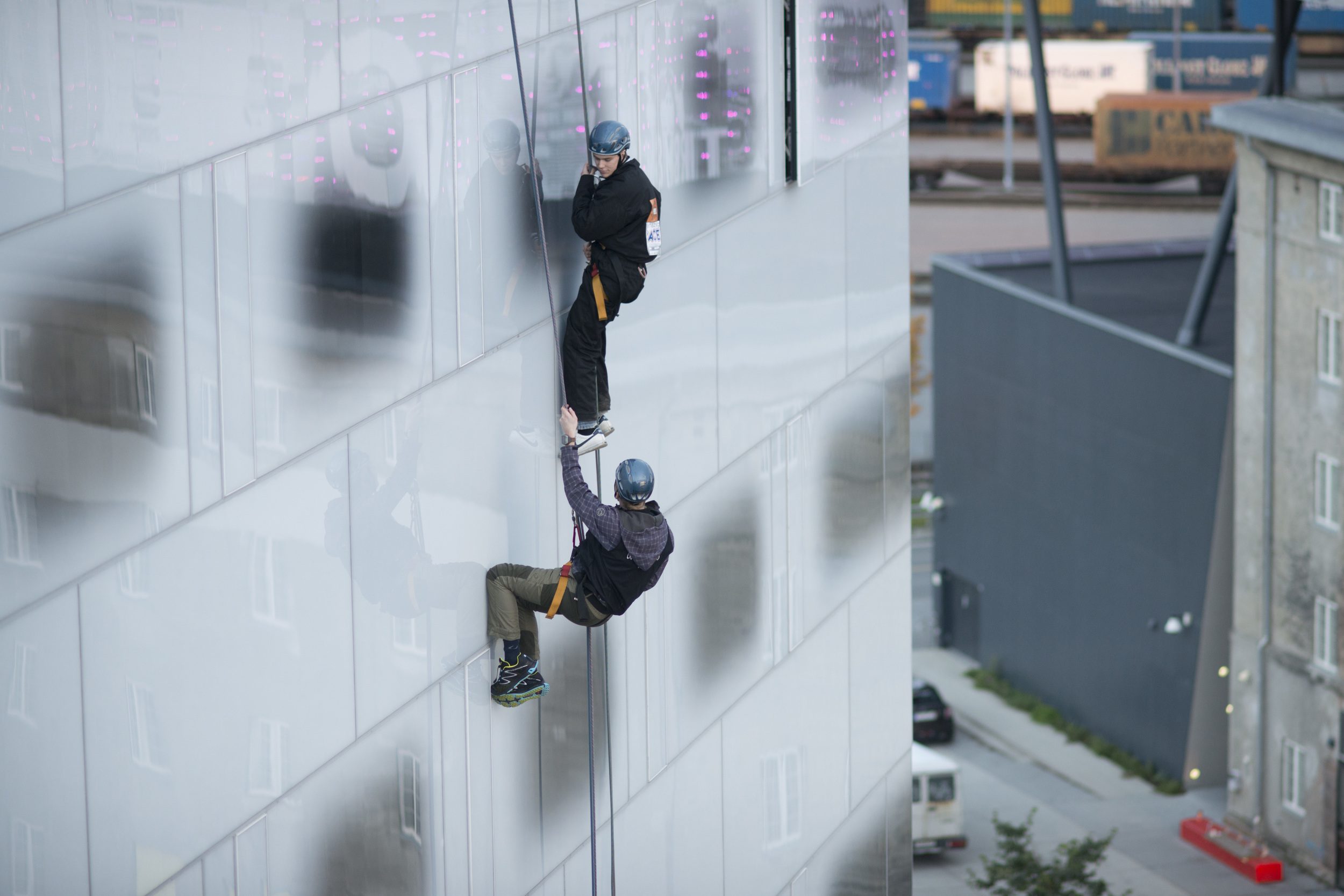 Abseiling at Clarion Hotel Brattøra