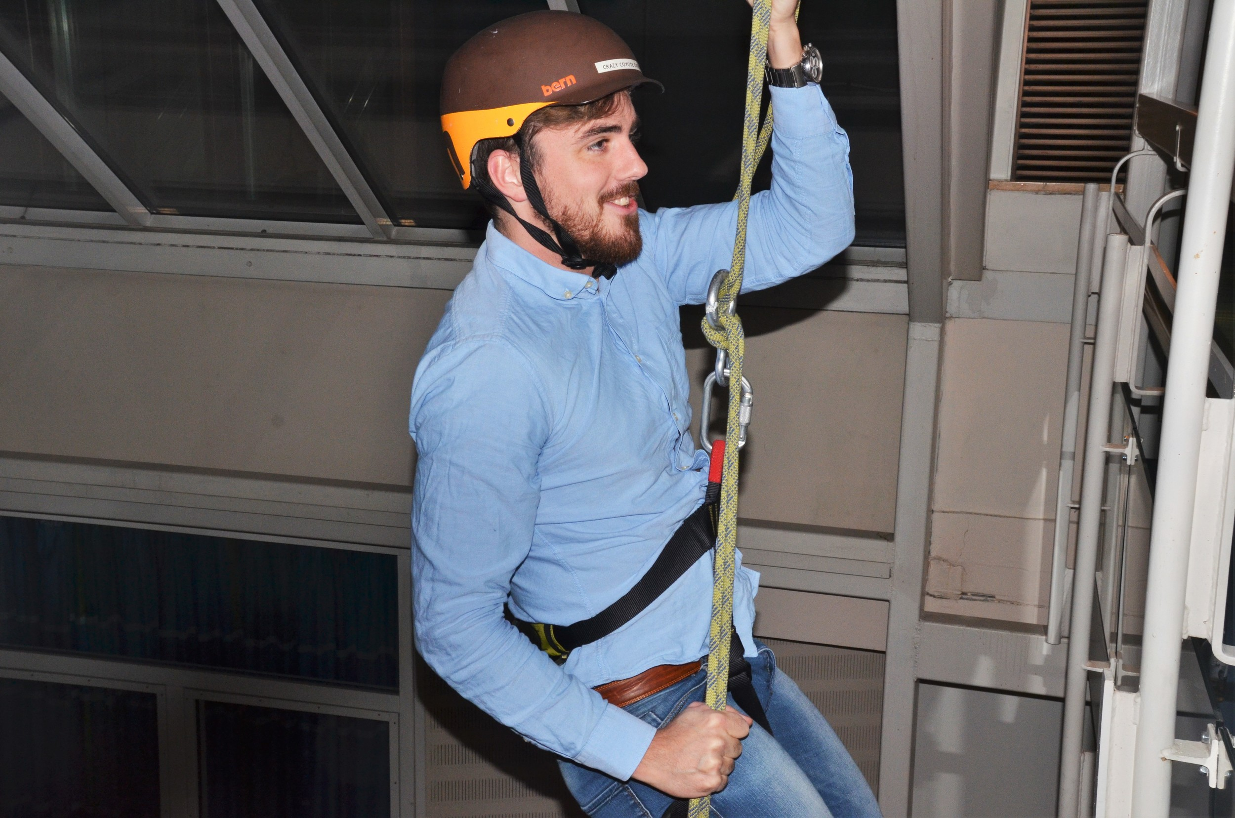 Abseiling at Royal Garden Hotel