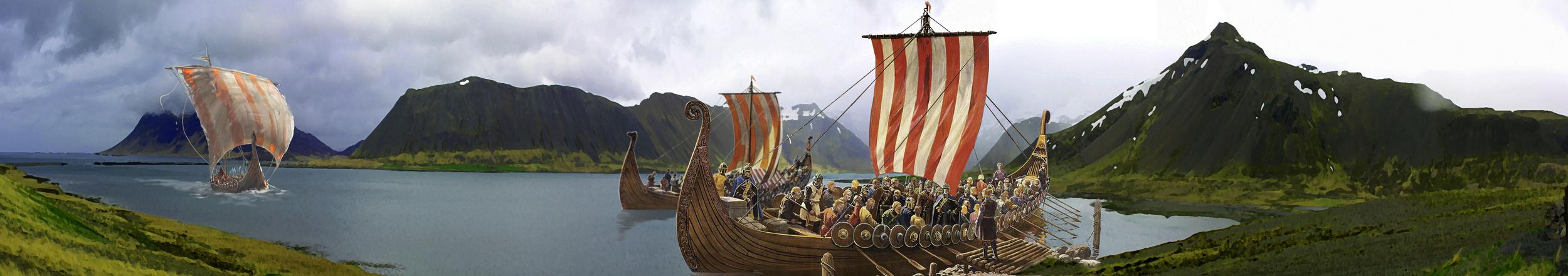 17 X 3 meter banner til Vikingefest for kunde