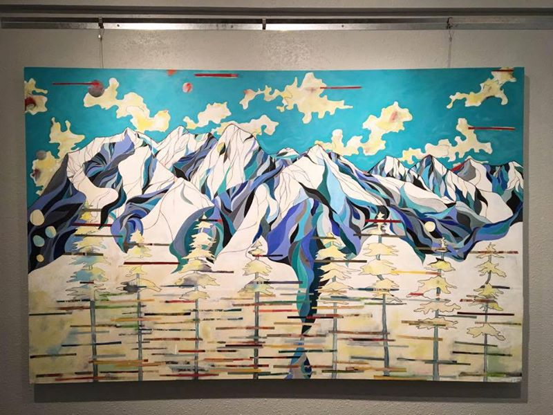 """Title: These Mountains I call Home  48.5"""" x 77"""" (approx. 4ft x 6.5ft)"""