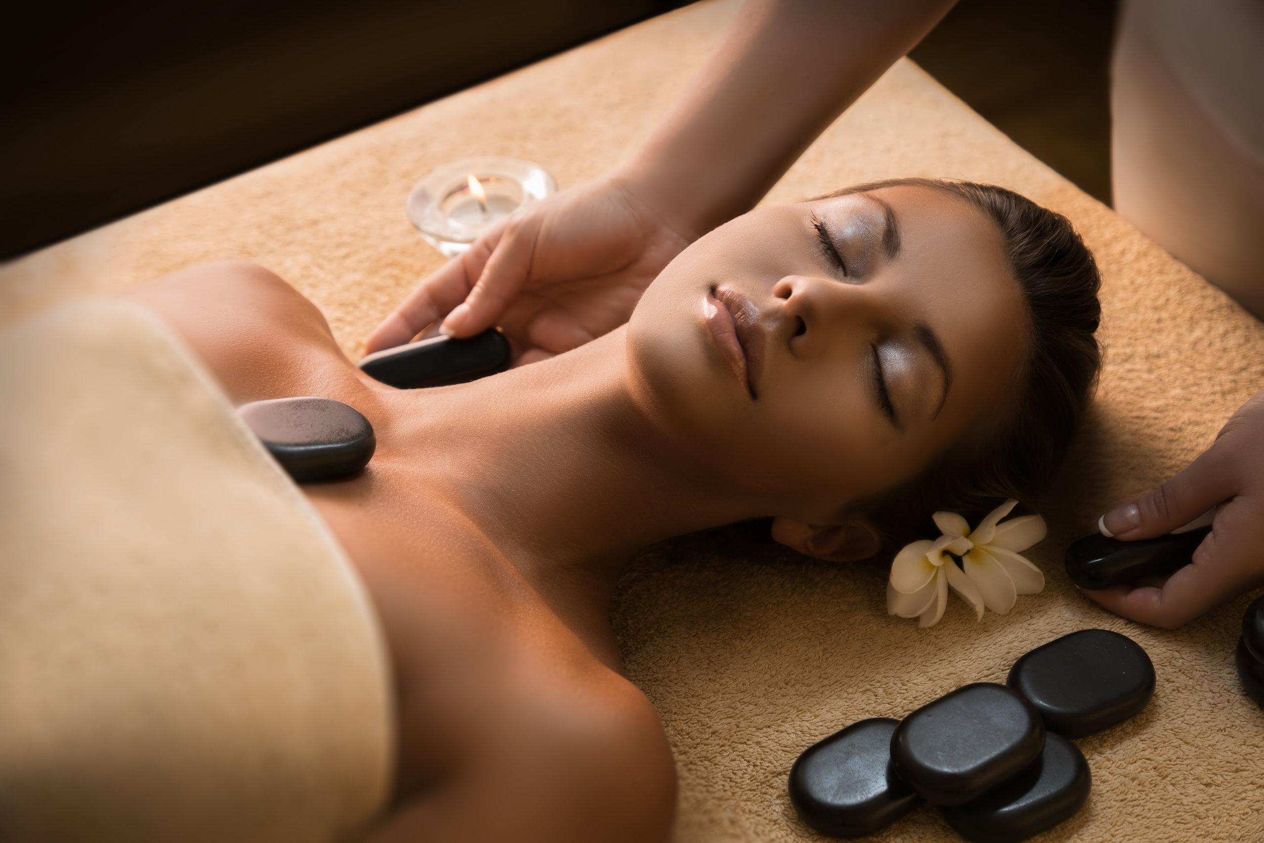 LIMN Skincare hot stone massage image