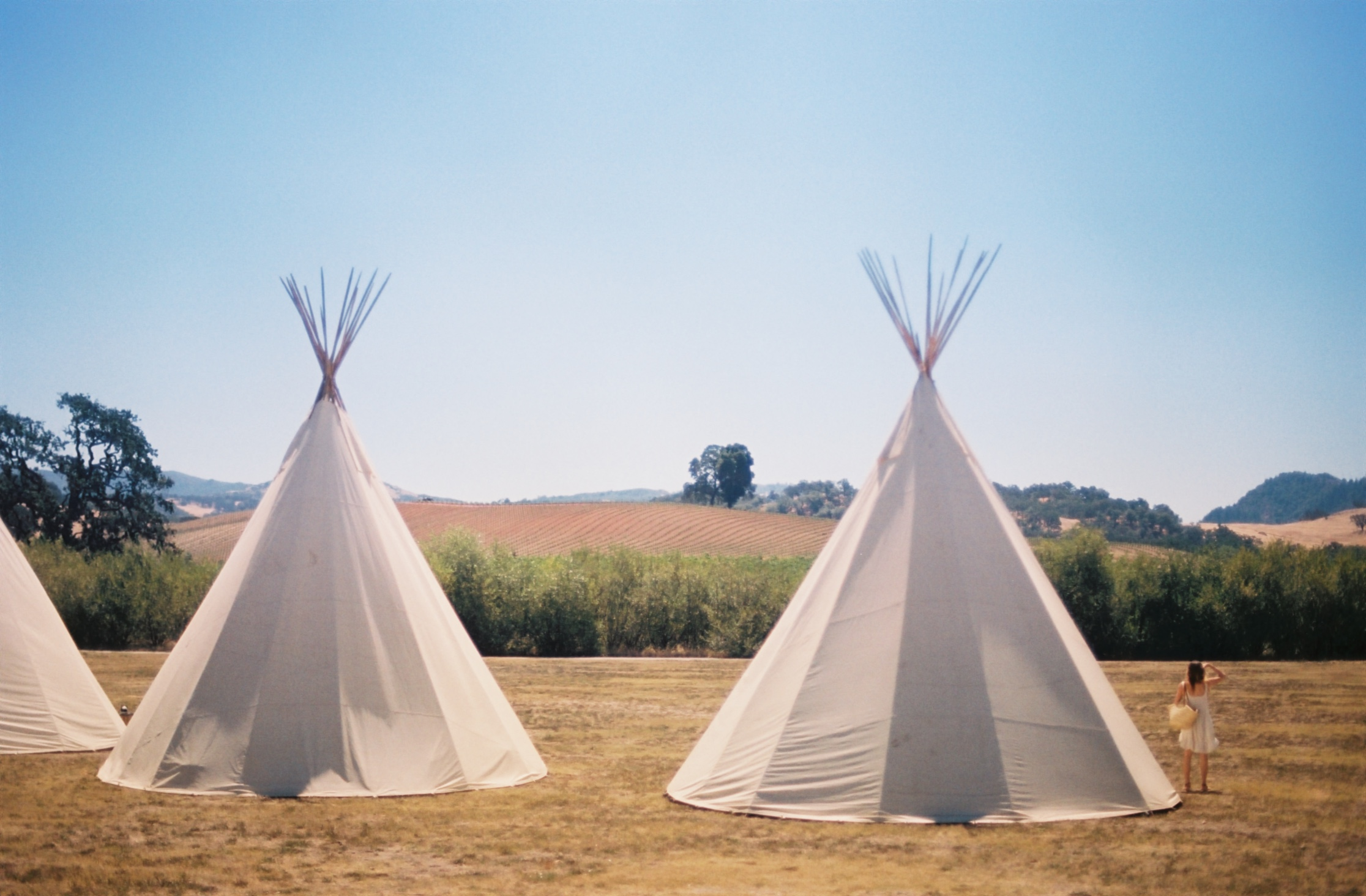 What's over there? - We slept in these magic Tipis every night. #35mm #film