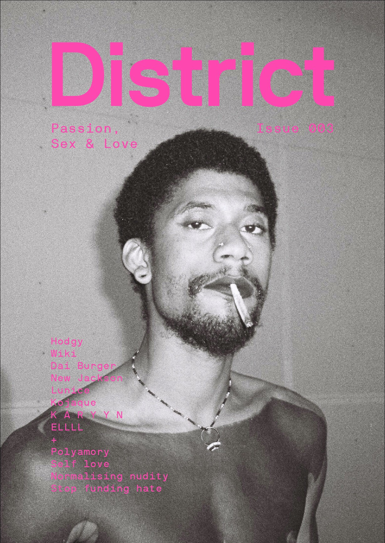 HODGY BEATS, DISTRICT MAGAZINE ISSUE 003, COVER