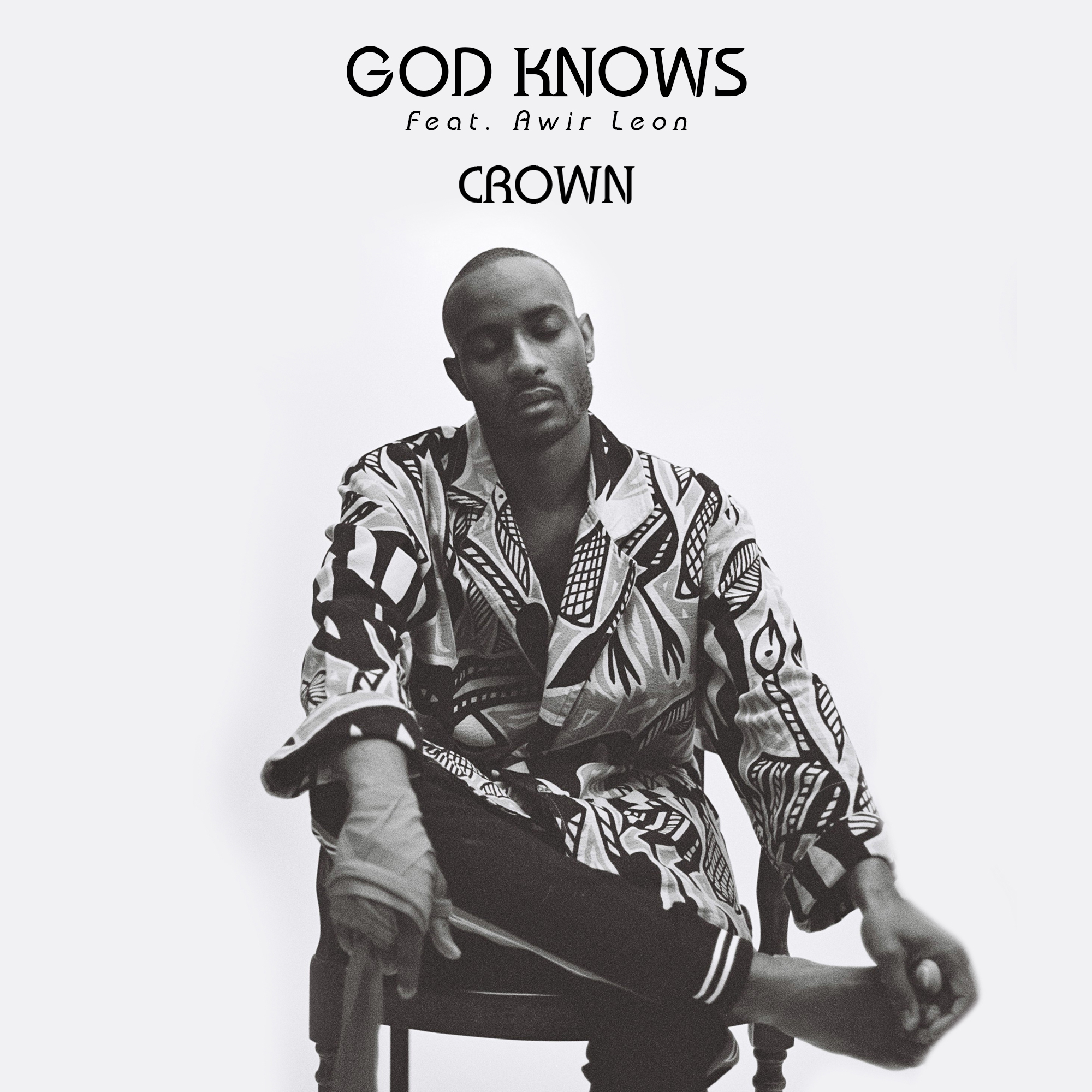GOD KOWS, 'CROWN', SINGLE ARTWORK WITH DESIGN ASSISTANCE FROM KENNETH ADAMS