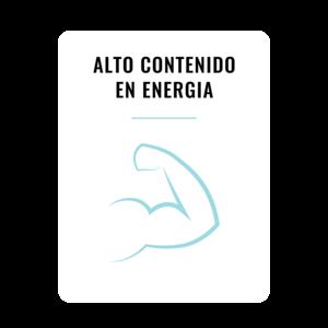 Gran poder energético gracias a sus materias primas de primera calidad con alto contenido en grasa y proteínas.