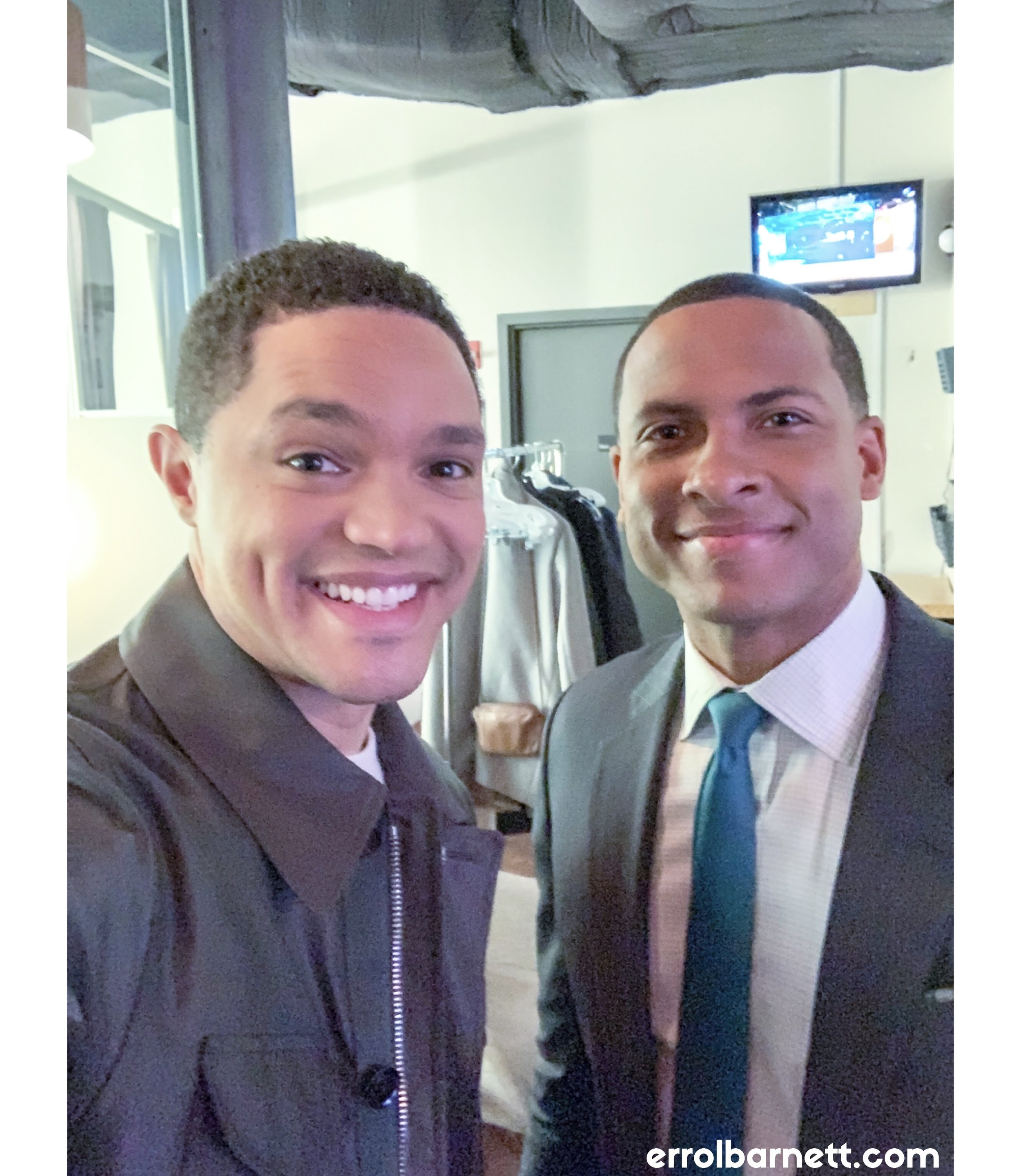 with trevor noah after his visit to cbs this morning.  this brotha approached and remembered me from my time reporting from south africa, i was stunned   he, meanwhile, has been changing the world.  Check out his book 'Born a Crime' and catch the @thedailyshow on @comedycentral.
