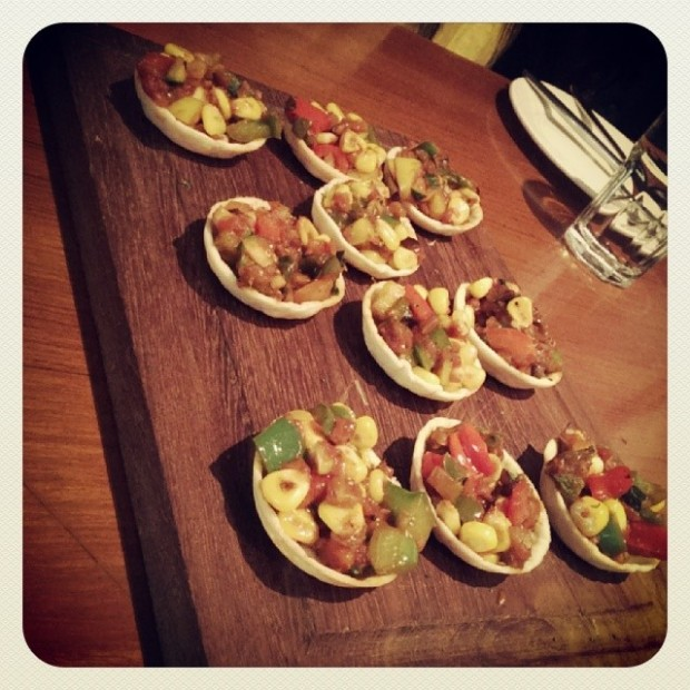 Canapes with veggies