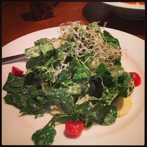 Mozzarella salad with ripe cherry tomatoes and arugula