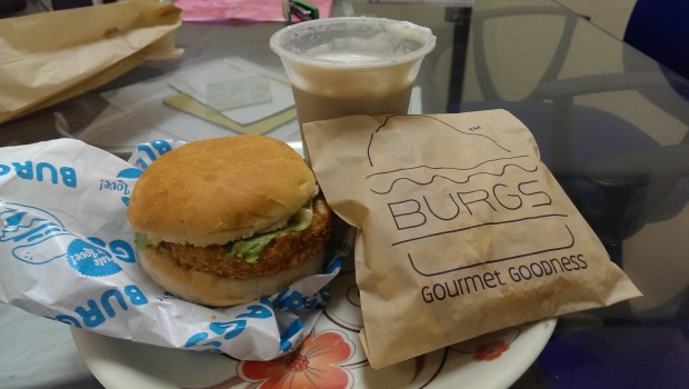 Smoky Cottage Cheese Burger with Coke Float and Fries