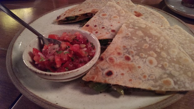 Grilled Veg Quesidilla @ Zen Cafe, Lower Parel