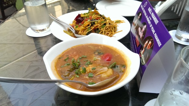Asian Veg and Water Chestnuts with Sambol Glaze, Mee Goreng Noodles @ Cafe at The NCPA, Nariman Point