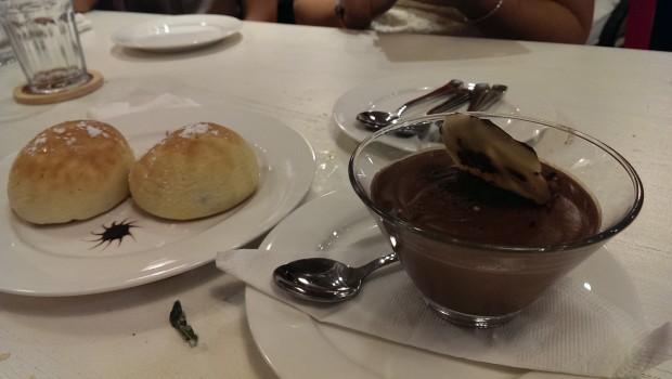 Chocolate Mousse and Bambolini alla Cioccolato @ Francesco's Pizzeria, Lower Parel