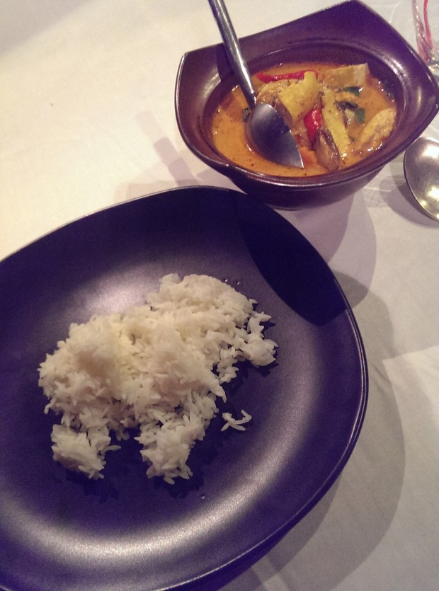 Red Thai Curry with Rice @ JW Marriott, Phuket