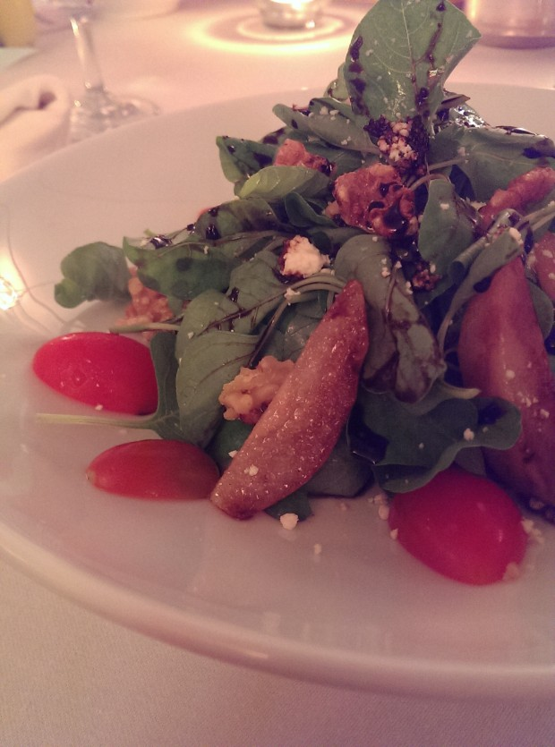 Grilled Pear Salad with Rocket Leaves and Walnuts doused in a Balsamic Dressing @ JW Marriott, Phuket