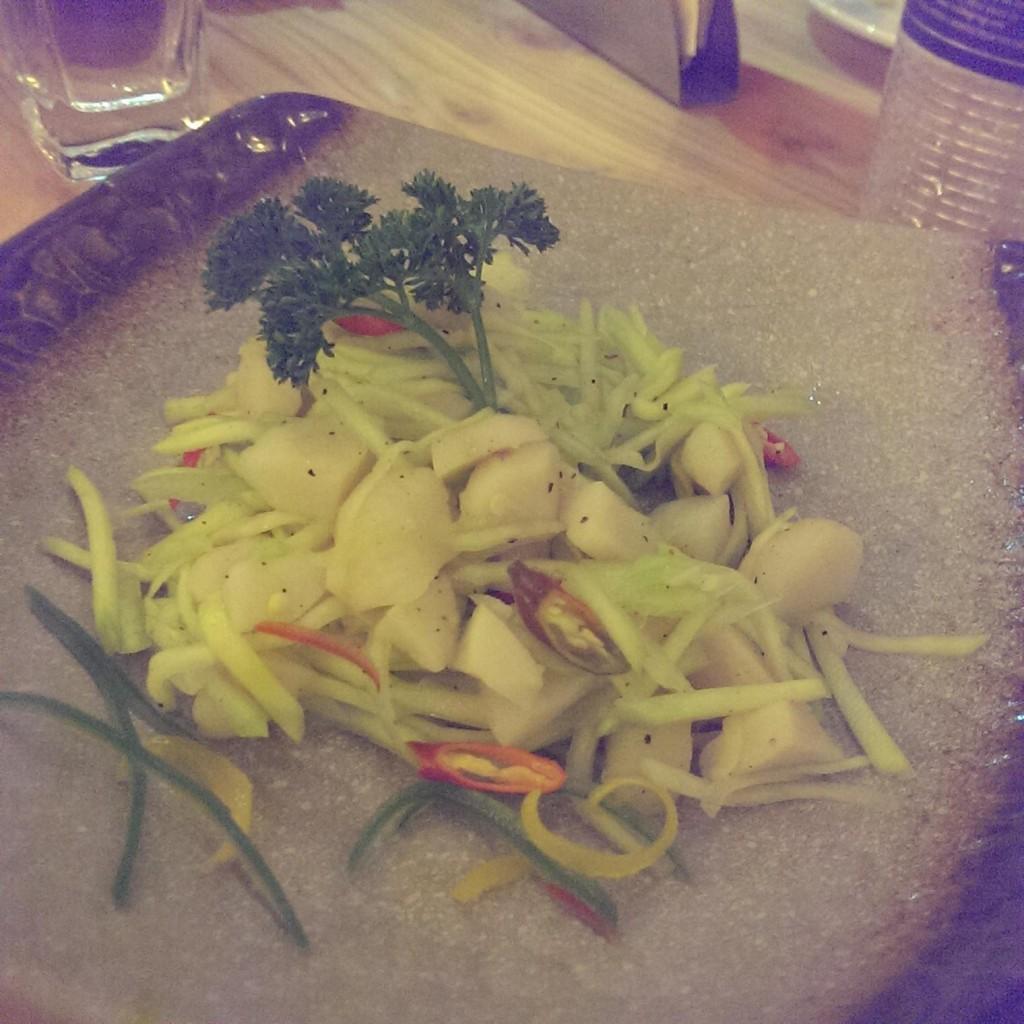 Water Chestnut and Raw Mango Salad @ Ithaka, Lower Parel