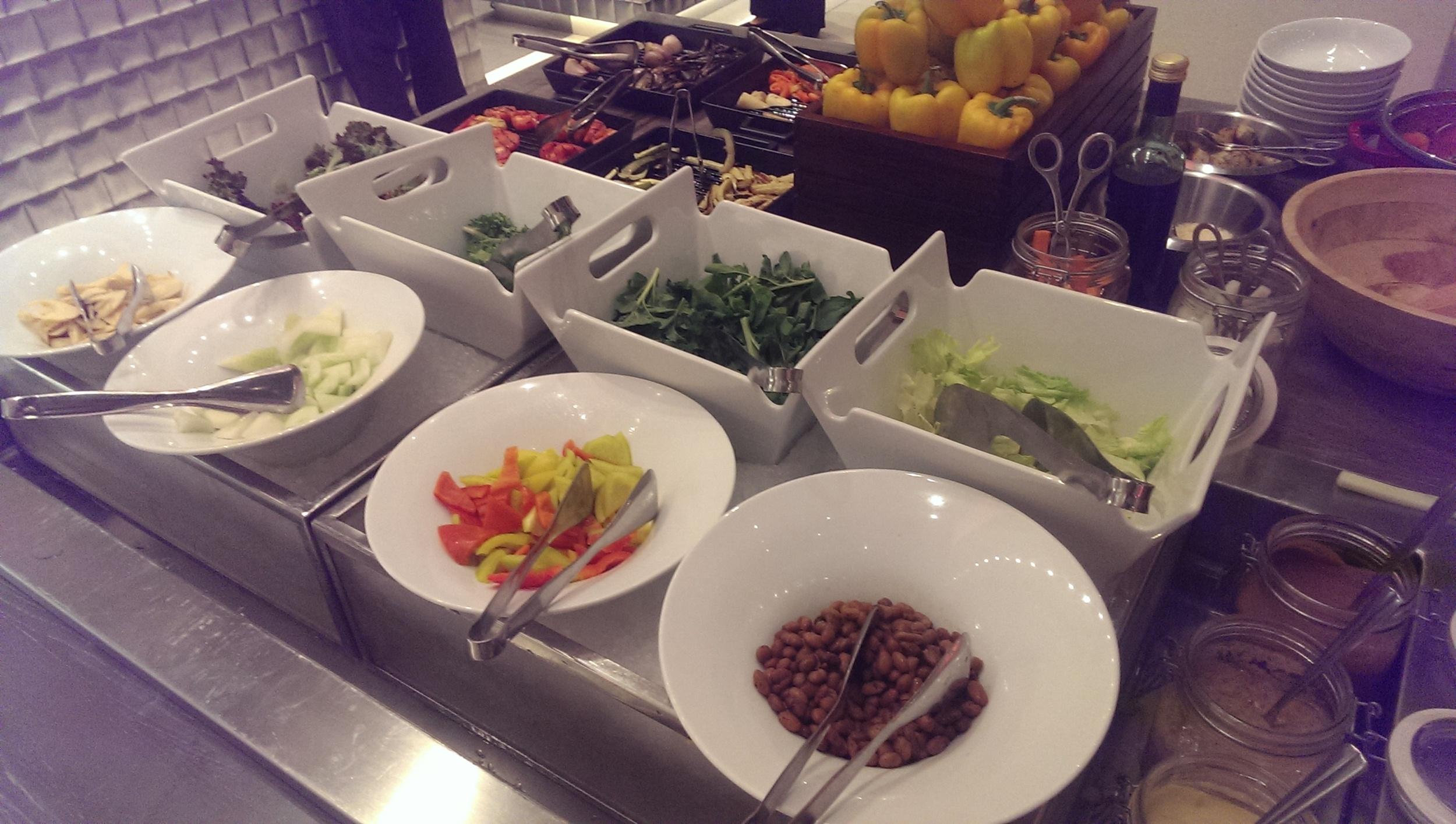 Fresh Veggies to customize your salad as you please @ JW Cafe, JW Sahar