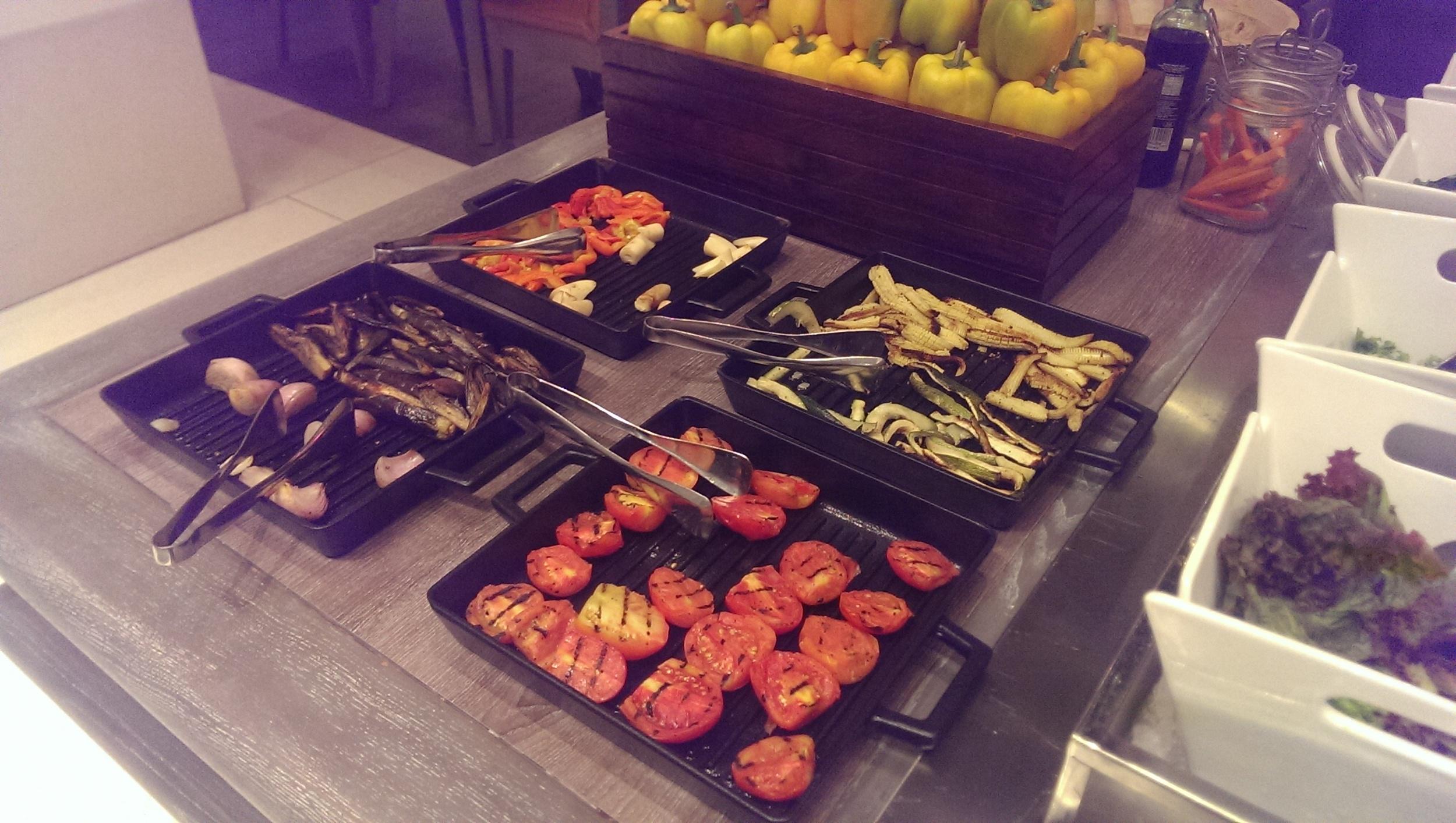 Grilled Veggies to mix into your salad @ JW Cafe, JW Sahar