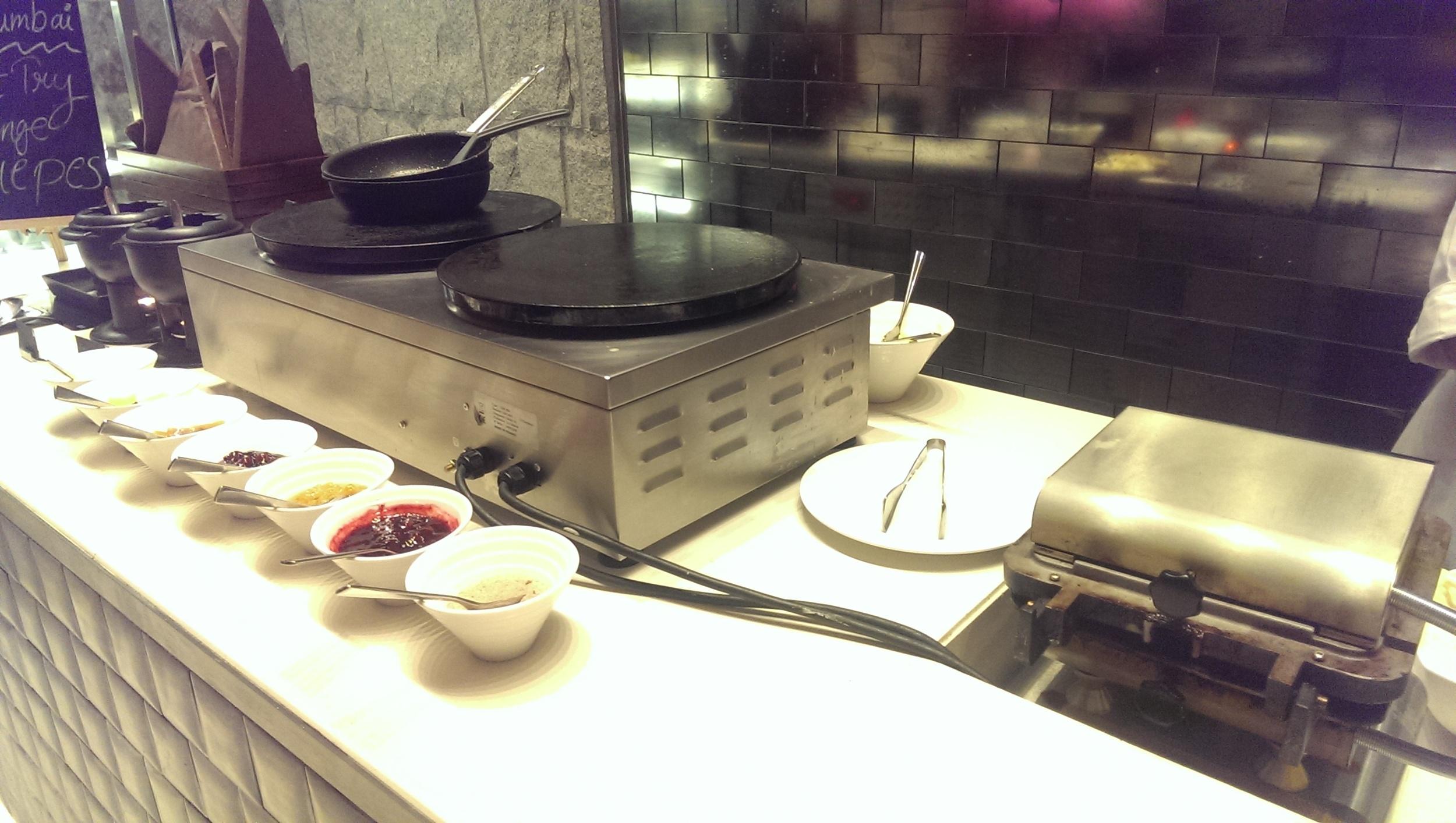 Crepe station and Waffle Iron @ JW Cafe, JW Sahar