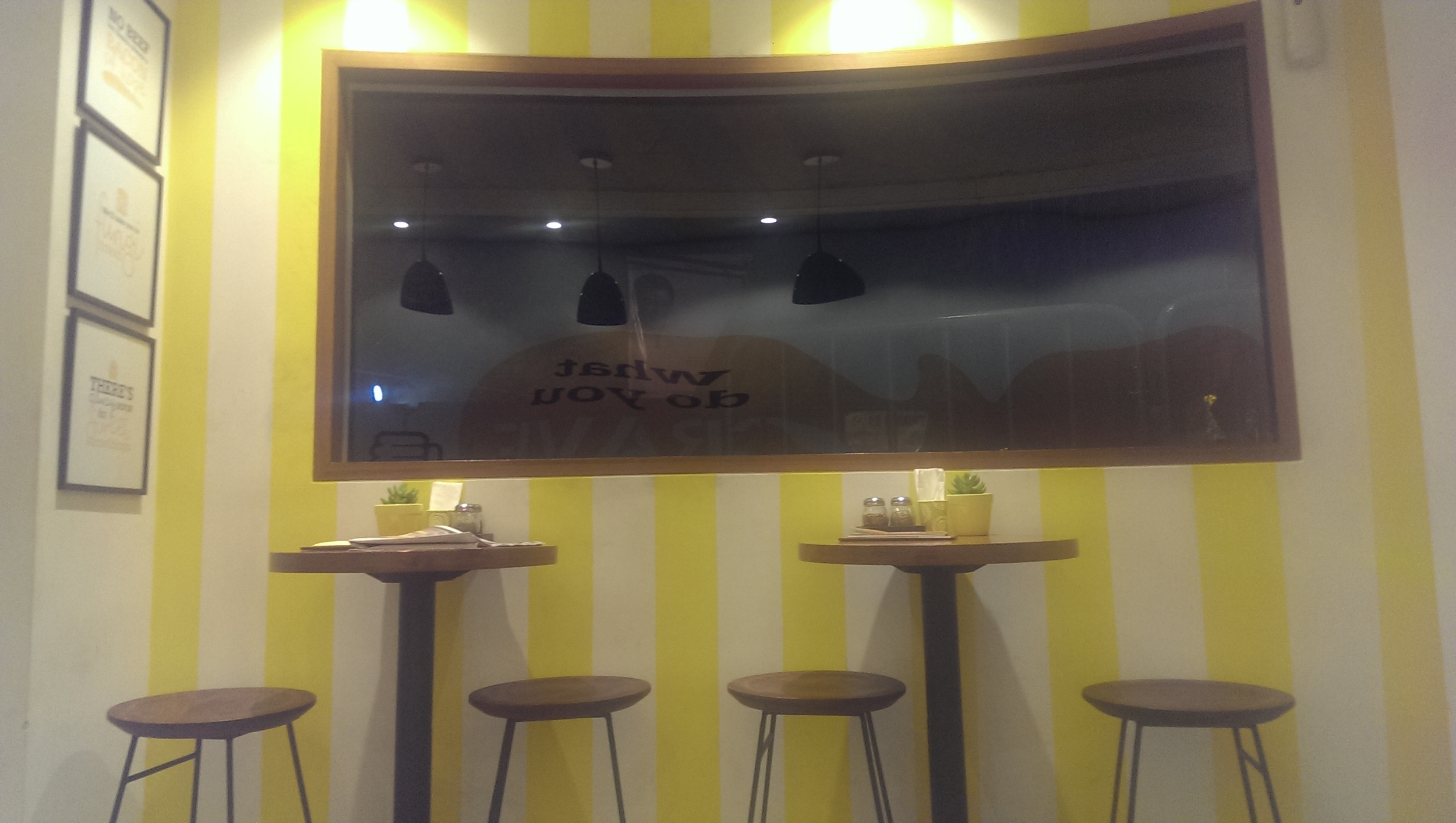 Bright Yellow Interiors @ Crave, Prabhadevi