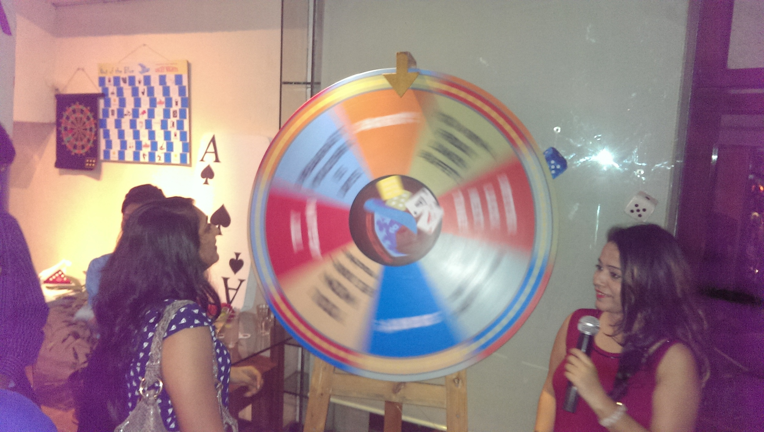 Spin the wheel and you could win @ Out of the Blue, Khar