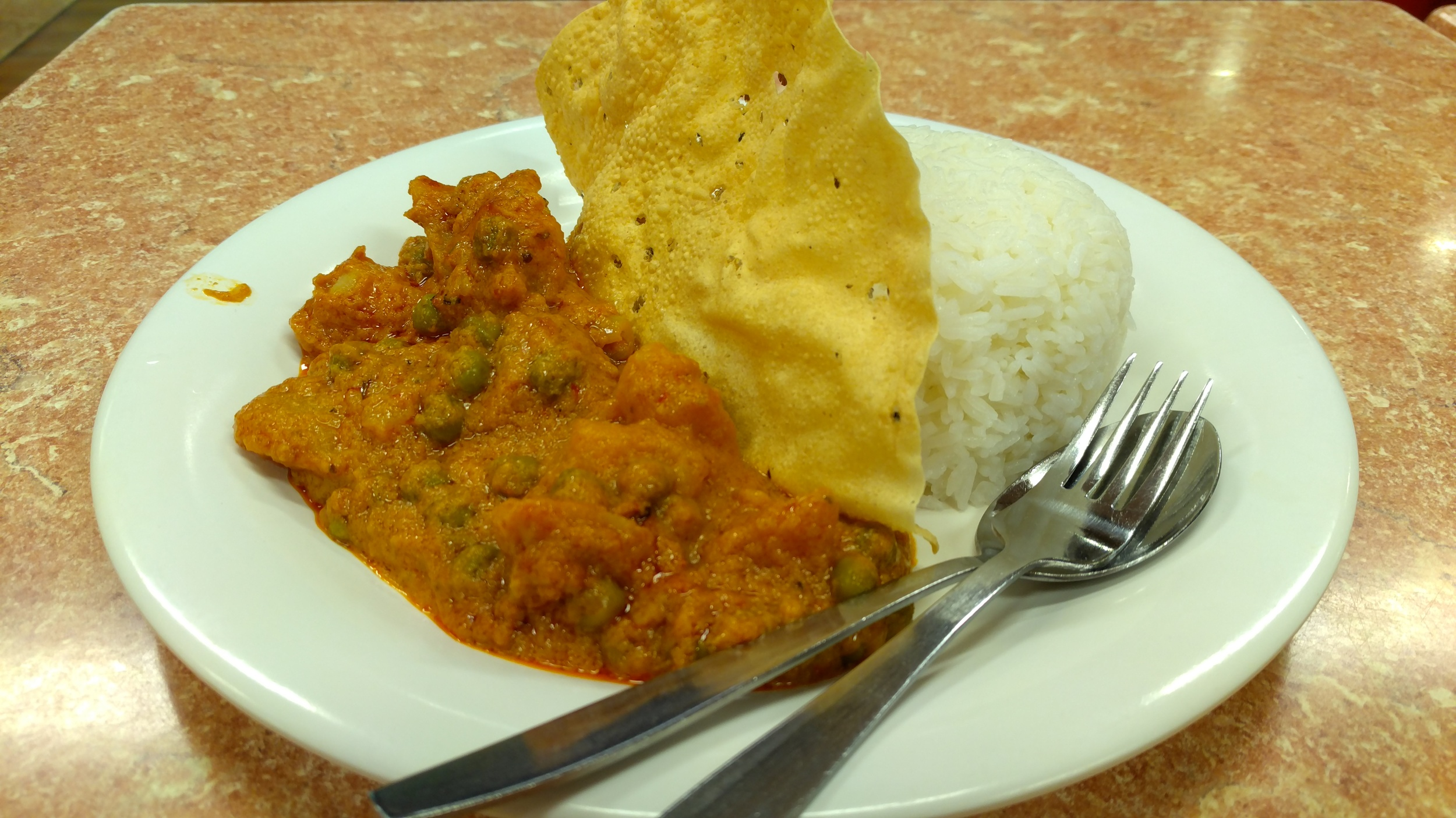 The Indian Curry at the SANDWICH CLUB