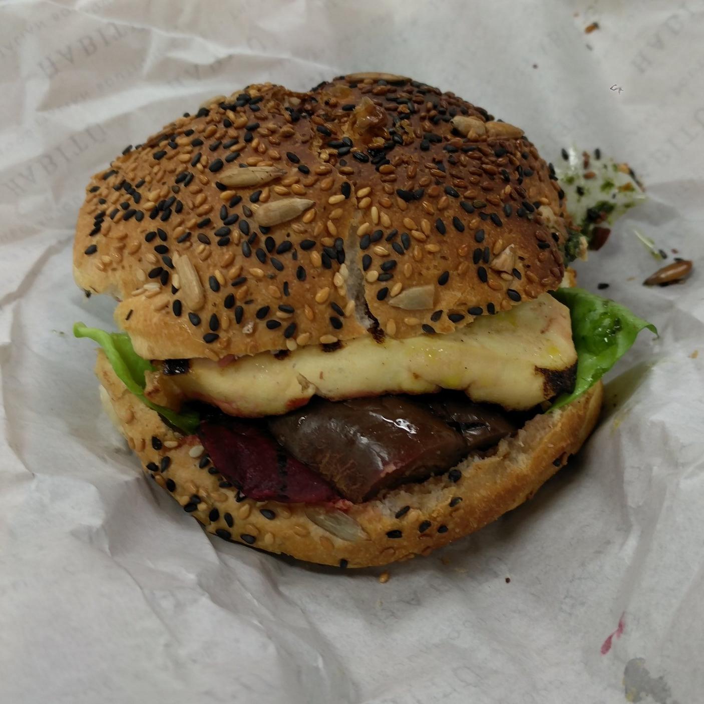 Tofu and Eggplant Burger