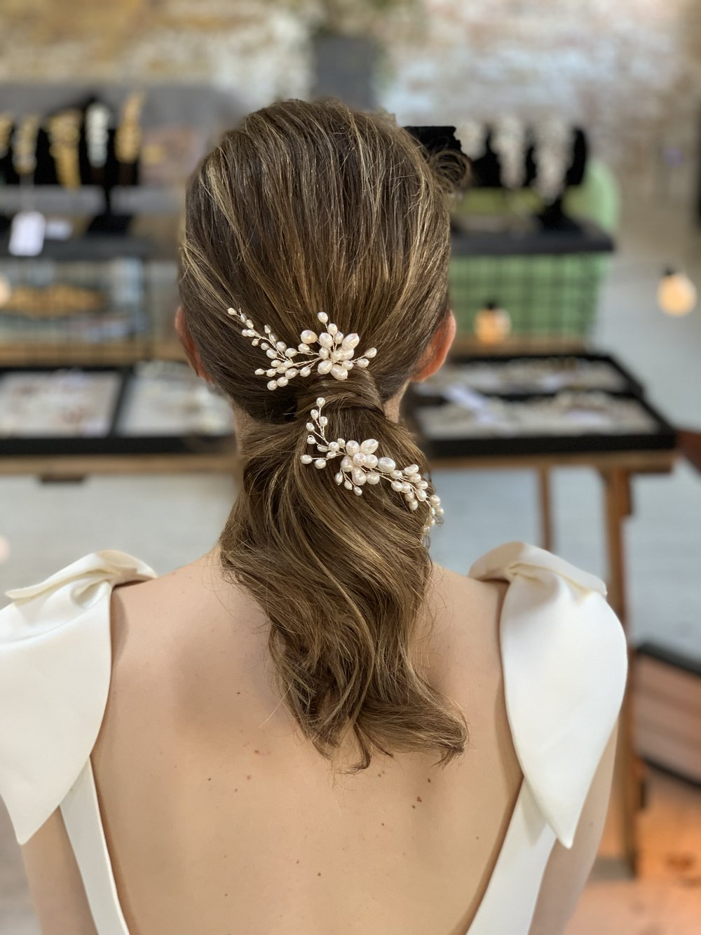 jemima | hairpins — miss clemmie artisan bridal accessories | beautiful hair accessories & jewellery for stylish brides | free delivery