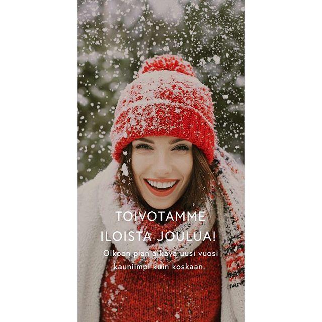 Hauskaa joulua kaikille! 😘🎁🎅🏻🌲 #Ilonakauneussalonki #merrychristmas #xmas  #24 #luonnonkosmetiikka #organicskincare #beautysalon #happyholidays  #noël  #joulu #letitsnow #jouluaatto #joulu #hauskaajoulua