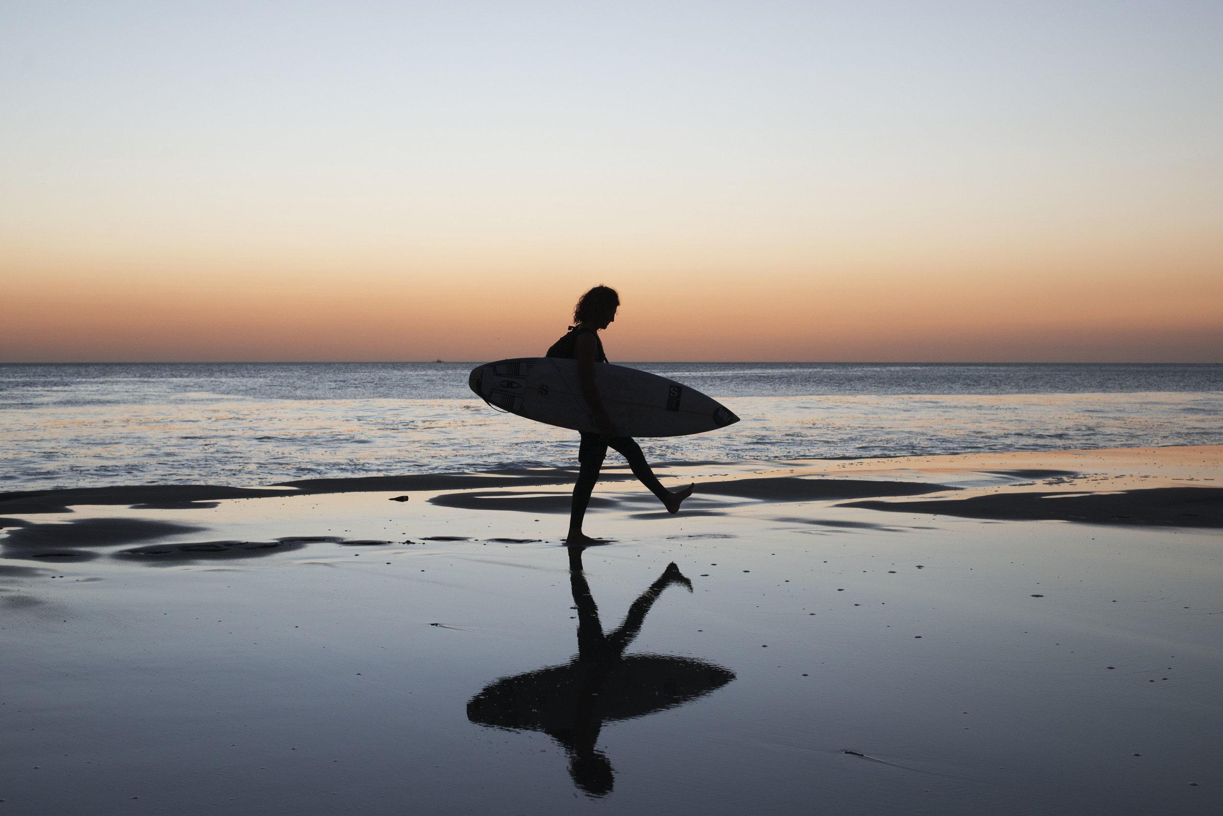 salt water sunset in popoyo 2