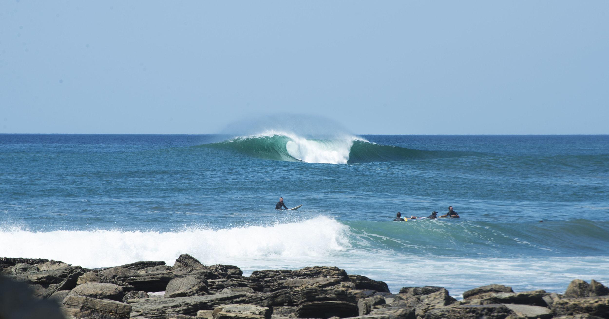salt water barrel wave popoyo